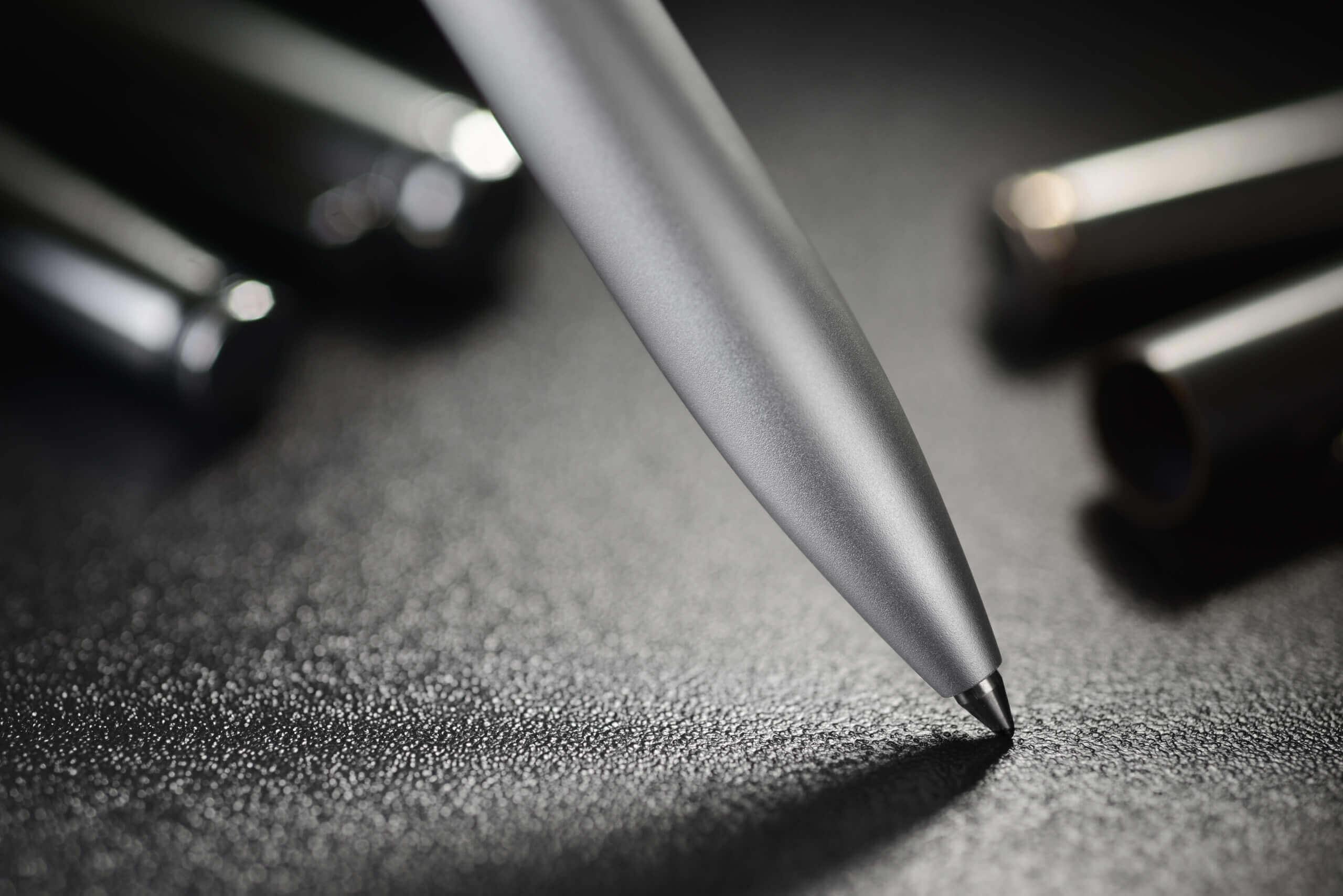 Über uns - steel ballpoint pen PLV3249 scaled - Über uns